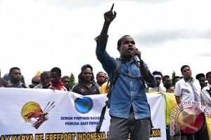 Demo mahasiswa Papua terkait Freeport