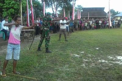 Lomba panah tradisional di Boven Digoel Papua