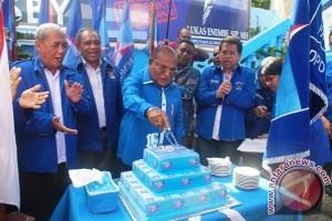 Gubernur Papua hadiri syukuran HUT ke-15 Partai Demokrat