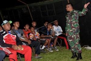 Pelatihan Bela Negara di perbatasan RI-PNG