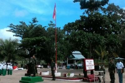 TNI dan warga perbatasan RI-PNG gelar upacara Sumpah Pemuda