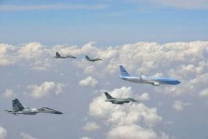 Pesawat Presiden RI dikawal pesawat tempur