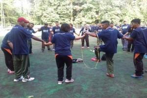 Polri-TNI dan karyawan Freeport olahraga bersama peringati Sumpah Pemuda