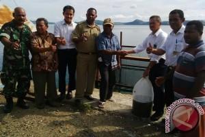 Pertamina bantu bibit ikan kepada warga Nendali Jayapura