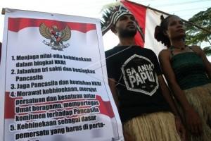 Aksi Bela Negara ala Mahasiswa Papua