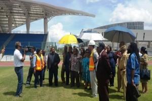 Gubernur Papua tinjau fasilitas PON 2020 di Timika