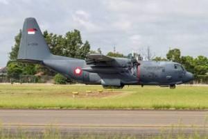 Pesawat Hercules TNI AU jatuh di Jayawijaya Papua