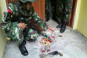 Satgas Pamtas RI-PNG temukan ganja dan senpi-amunisi