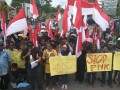 Demo lawan Freeport di Timika