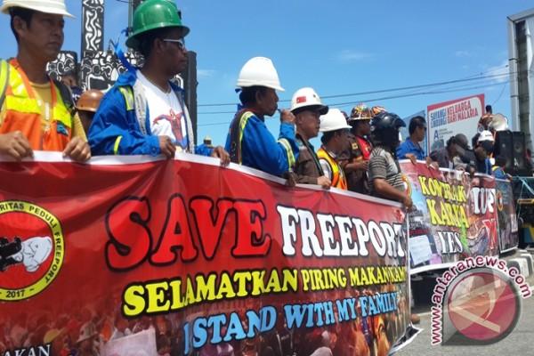 Karyawan Freeport ancam tutup Sentra Pemerintahan Mimika