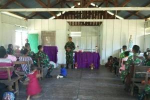 TNI selesaikan renovasi gereja Kampung Kibay di perbatasan RI-PNG