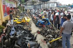 Polres Mimika tangkap kawanan pencuri-penadah sepeda motor