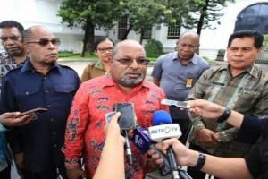 Gubernur Papua laporkan perkembangan pembangunan kepada Presiden