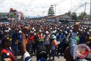 Polisi antisipasi ancaman karyawan Freeport tutup Bandara Mozes Kilangin Timika
