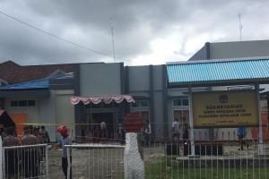 Kantor KPU Kabupaten Kepulauan Yapen terbakar