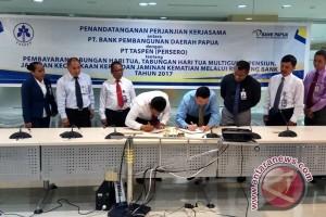 Bank Papua dan Taspen kerja sama pembayaran dana pensiun