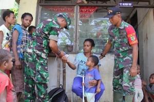Satgas TMMD gelar pengobatan keliling di Kampung Sach