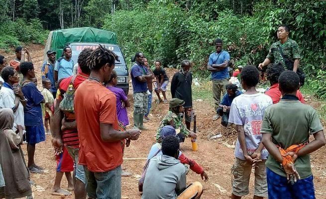 Koramil Camp Tunas sosialisasikan aturan lintas batas RI-PNG