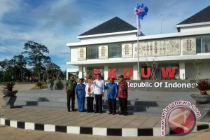 Presiden Jokowi resmikan PLBN Skouw