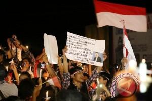 Aksi solidaritas Ahok di Timika masih berlanjut