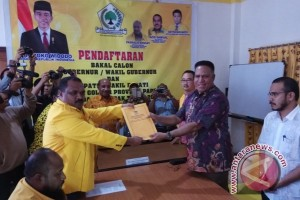 Waterpauw mendaftar di Golkar untuk Pilgub Papua