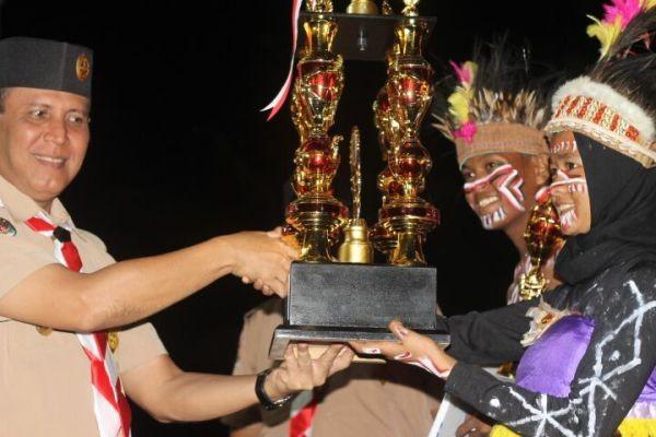 Polres Mimika juara lomba Pramuka Saka Bhayangkara