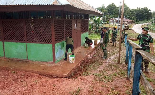 Dua balai kampung hasil TMMD Boven Digoel siap digunakan