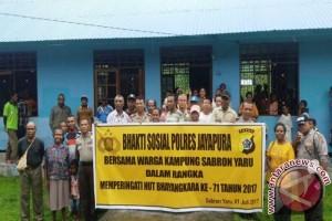 Polres Jayapura gelar bhakti sosial di Sabron