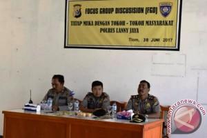 Polres Lanny Jaya gelar FGD peringati HUT Bhayangkara