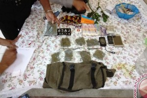 Polisi Arso tangkap pembawa ganja