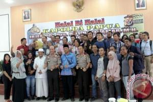 Polda Papua gelar halabihalal dengan insan pers di Jayapura