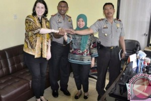 Pejabat Dubes AS bertemu dengan Kapolres Jayawijaya