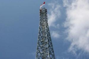 Pemuda pegunungan Papua kibarkan Merah Putih di puncak tower