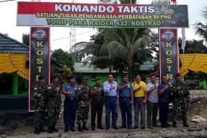 Pejabat Kemhan kunjungi pos Satgas Pamtas RI-PNG Yonif 432/WSJ