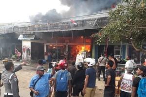 Polisi Jayapura selidiki kasus tujuh ruko terbakar