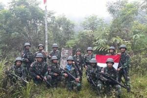 Dansatgas Yonif 410/Alugoro pimpin patroli tugu batas RI-PNG