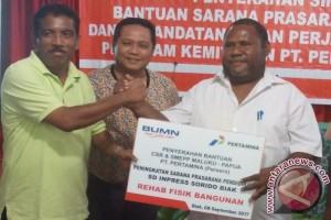 Disdik Biak Numfor: rehabilitasi SD YPK Anggaduber dibiayai Pertamina