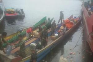 Satgas TMMD ke-100 Kodim 1707/Merauke menuju Kampung Wonggi
