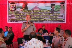 "Kapolda Papua sosialisasikan ""Kampung ATM"" di Nimbokrang"