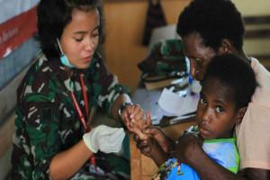 Tim Ekspedisi NKRI gelar pengobatan massal di Womgi