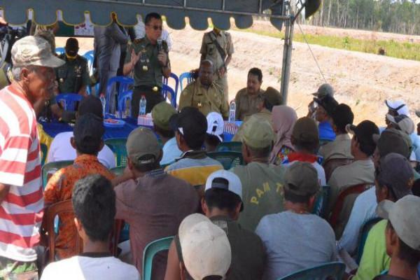 Pangdam Cenderawasih tinjau lokasi perluasan sawah di Kampung Anumbob