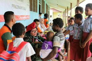 Ekspedisi NKRI gelar pelayanan kesehatan gratis di Kamangi Merauke