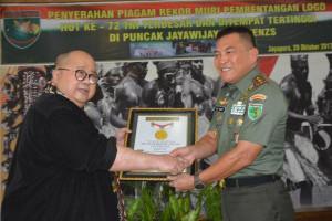 Logo HUT ke-72 TNI masuk rekor Muri