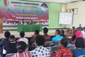 Danramil Merauke ajar wawasan kebangsaan kepada peserta Jambore Pemuda Distrik