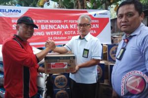 Pertamina Maluku-Papua bantu korban kebakaran Weref