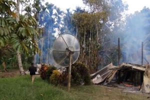 11 rumah ludes dibakar massa di Arso