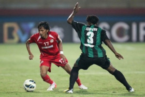 Pemain Papua mengikuti seleksi di PSM Makassar