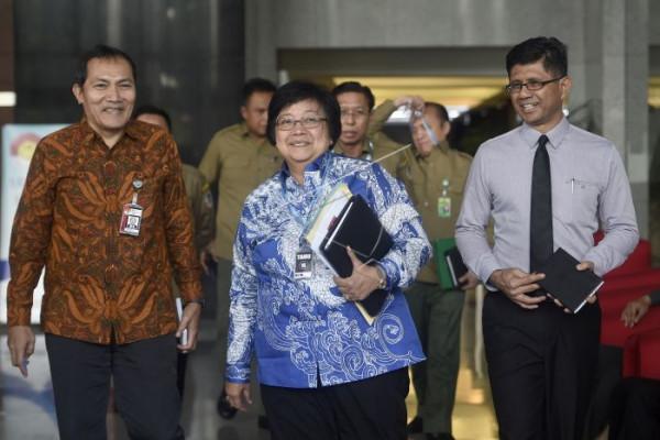 Menteri LHK mendatangi KPK terkait kasus Papua