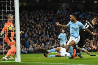 Aguero cetak empat gol saat City hancurkan Leicester