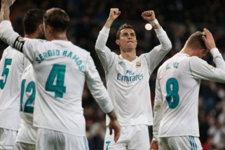 Ronaldo ukit trigol saat Real Madrid taklukkan Sociedad